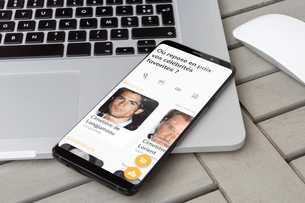 Application mobile Catch My Tomb créée par notre agence web