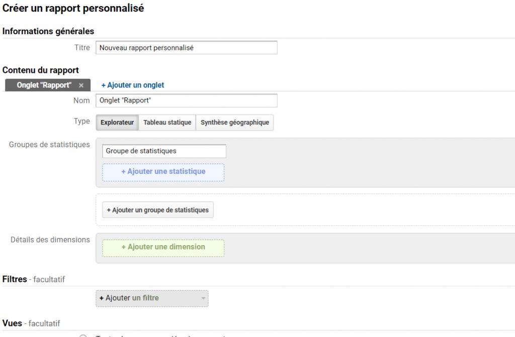 Etapes 6 de personnalisation de google analytics