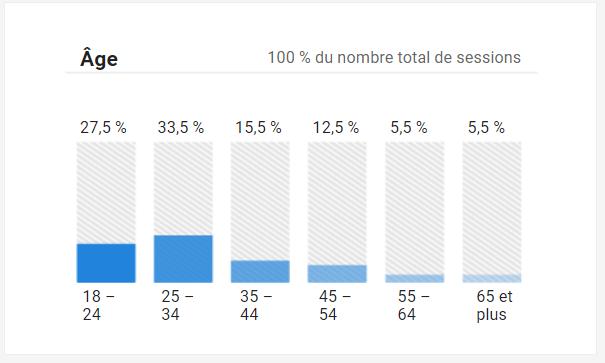voir l'age de l'audience de votre site avec Google Analytics