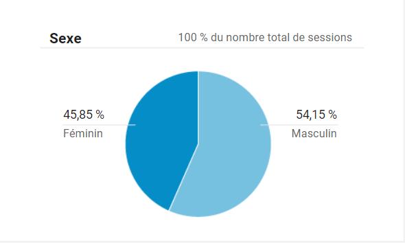 voir le sexe de l'audience de votre site avec Google Analytics